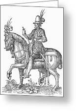 France: Officer, 1572 Greeting Card