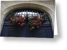 France, Paris, Flower Bouquet Hanging Greeting Card