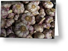 France, Paris Sunday Market Garlic Greeting Card