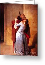 Francesco Hayez Il Bacio Or The Kiss Greeting Card
