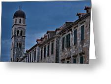 Franciscan Monastery Tower - Dubrovnik Greeting Card