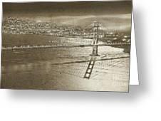 Francisco Sky Line Vintage  Greeting Card