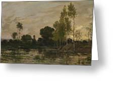 Francois Daubigny   Alders Greeting Card