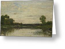 Francois Daubigny   View On The Oise Greeting Card