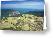 Franconia Notch From Mount Lafayette Greeting Card