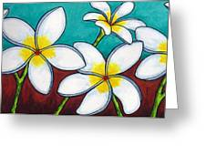 Frangipani Delight Greeting Card