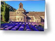 All Purple, Cistercian Abbey Of Notre Dame Of Senanque, France  Greeting Card