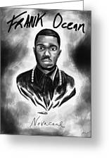 Frank Ocean Novacane Inspired Greeting Card by Pierre Louis
