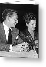 Frank Sinatra And Nancy Greeting Card
