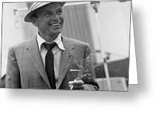 Frank Sinatra In Studio  Greeting Card