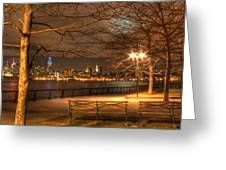 Frank Sinatra Park Greeting Card by Lee Dos Santos