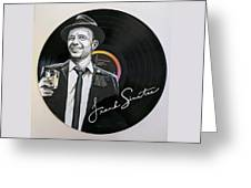 Frank Sinatra Portrait On Lp Greeting Card