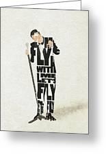 Frank Sinatra Typography Art Greeting Card