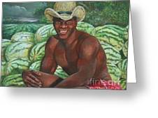 Frank The Watermelon Man Greeting Card