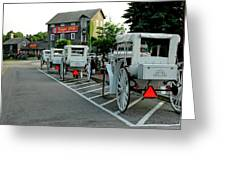 Frankenmuth Michigan Carriages At The Mill Greeting Card