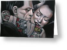 Frankenstein And Wife  Greeting Card