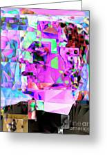 Frankenstein In Abstract Cubism 20170407 Greeting Card
