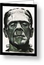 Frankenstein Portrait Greeting Card