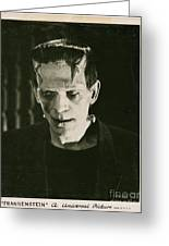 Frankensteins Monster Boris Karloff Greeting Card
