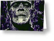 Frankenstein Greeting Card by Al Matra