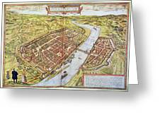 Frankfurt, Germany, 1572 Greeting Card