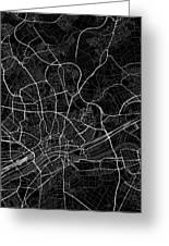 Frankfurt Germany Dark Map Greeting Card