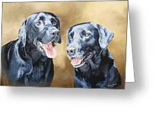 Frankie And Ross Greeting Card