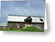 Franklin Barn By The Lake Greeting Card