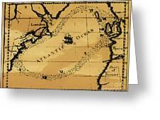 Franklin Chart, 1786 Greeting Card