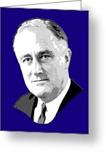 Franklin D. Roosevelt Grayscale Pop Art Greeting Card