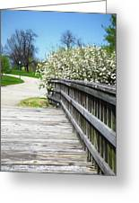 Franklin Park Conservatory Footbridge Greeting Card