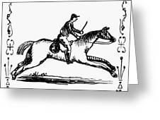Franklin: Post Rider, 1775 Greeting Card