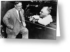 Franklin Roosevelt And Fiorello Laguardia In Hyde Park - 1938 Greeting Card