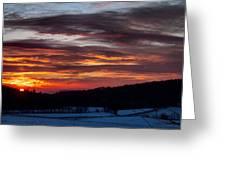 Franklin Sunset  Greeting Card