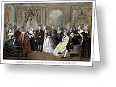 Franklin's Reception At The Court Of France Greeting Card