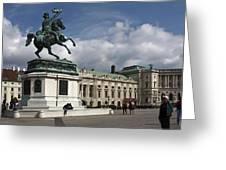 Franz Joseph Equestrian Statue Greeting Card