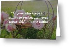 Franz Kafka Quote Greeting Card