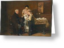 Franz Rumpler  The Letter 1882 Greeting Card