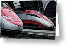 Freccia Rossa Trains. Greeting Card