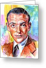 Fred Astaire Painting Greeting Card