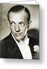 Fred Astaire, Vintage Actor And Dancer Greeting Card