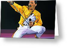 Freddie Mercury Live Greeting Card