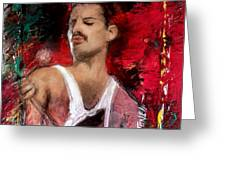 Queen Freddie Mercury Greeting Card
