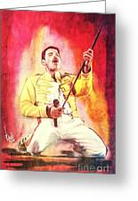 Freddy Mercury Greeting Card