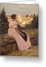 Frederic Bazille   The Pink Dress Greeting Card