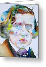 Frederic Chopin - Watercolor Portrait Greeting Card