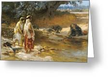 Frederick Arthur Bridgman 1847   1928 American At The Water S Edge Greeting Card