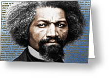 Frederick Douglass And Emancipation Proclamation Painting In Color  Greeting Card
