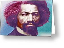 Frederick Douglass Painting In Color Pop Art Greeting Card