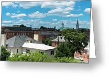 Fredericksburg Roof Tops Greeting Card